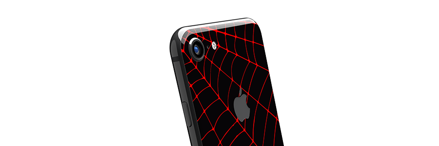 Black Widow iPhone 8 Glass Only skin