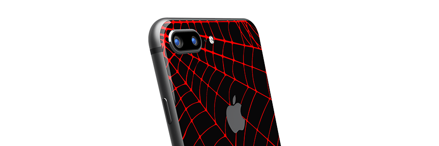 Black Widow iPhone 8 Plus Glass Only skin
