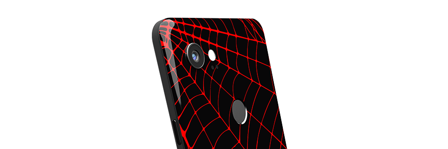 Black Widow Pixel 2 XL Partial Back skin
