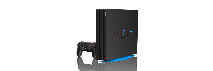 PlayStation 4 Pro 128-bit Painted