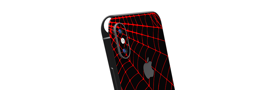 Black Widow iPhone X Glass Only skin