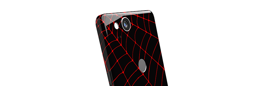 Black Widow Pixel 2 Full Back skin