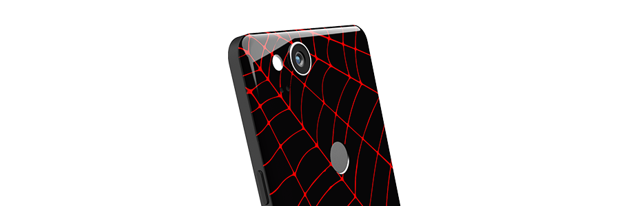 Black Widow Pixel 2 Partial Back skin