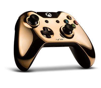 Colorware Custom 18k Rose Gold Xbox One Controller