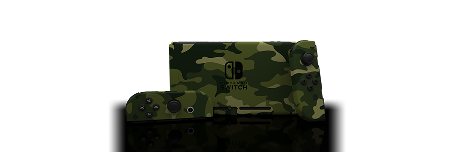 Switch Forest Camo Painted