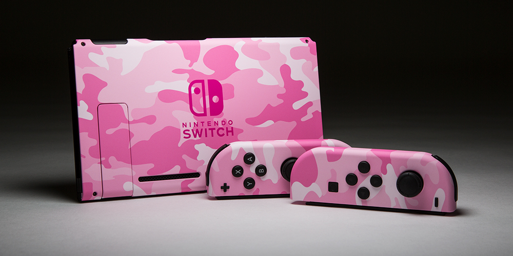 Switch Pink Camo Painted